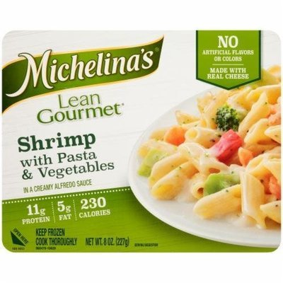 Frozen Dinner, Michelina's® Lean Gourmet Shrimp with Pasta & Vegetables (8 oz Box)