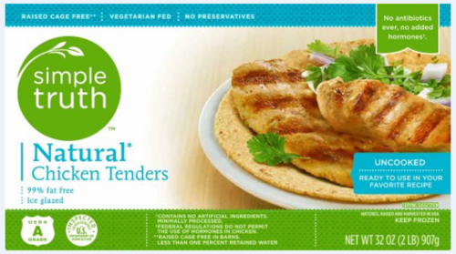 Frozen Chicken, Simple Truth™ Natural Chicken Tenders (32 oz Box)