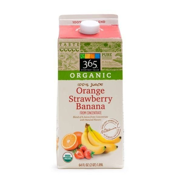 Juice Drink, 365® Organic Orange Strawberry Banana Juice (64 oz Carton)