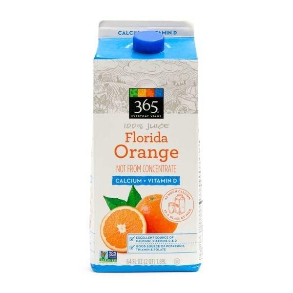 Juice Drink, 365® Florida Orange Juice (64 oz Carton)