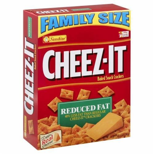 """Crackers, Cheez-It® """"Reduced Fat"""" Family Size Crackers (19 oz Box)"""