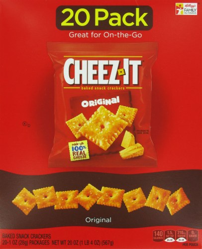 """Lunch Size Crackers, Cheez-It® """"Original"""" Crackers (20 Count, 12 oz Box)"""