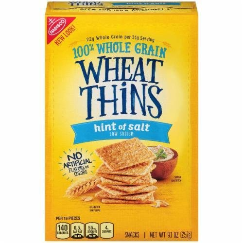 "Crackers, Nabisco® Wheat Thins® ""Hint of Salt"" Crackers (9.1 oz Box)"