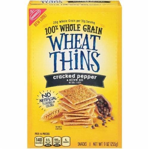 "Crackers, Nabisco® Wheat Thins® ""Cracked Pepper & Olive Oil"" Crackers (9 oz Box)"
