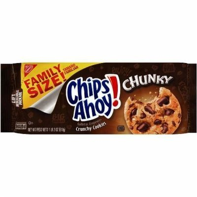 Cookies, Nabisco® Chips Ahoy® Chunky Chocolate Chip Cookies (Family Size, 18 oz Bag)