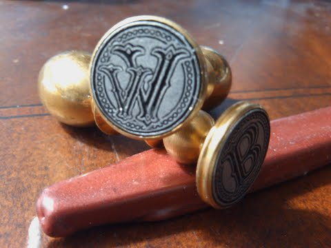 Envelope Wax Seal Tuscany - Letter W