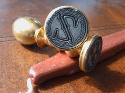 Envelope Wax Seal Tuscany - Letter Z