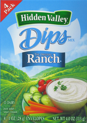Salad Dressing, Hidden Valley Ranch® Ranch Mix (4 oz Box)