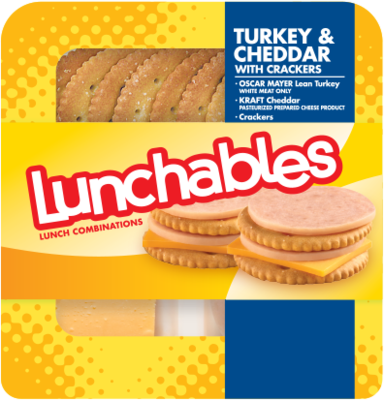 Lunchables® Turkey & Cheddar with Crackers (3.2 oz Tray)