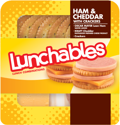Lunchables® Ham & Cheddar Cracker Stackers (3.5 oz Tray)