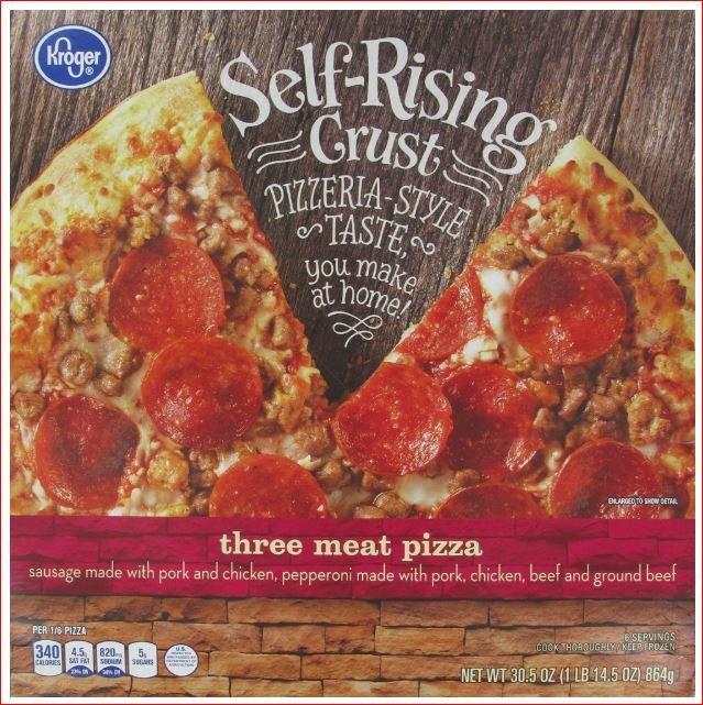 Frozen Pizza, Kroger® Self-Rising Crust Three Meat Pizza (30.5 oz Box)