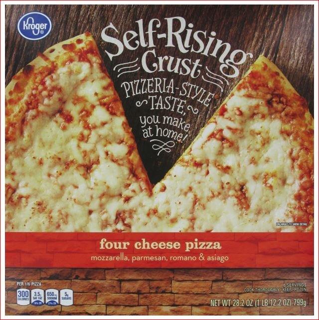 Frozen Pizza, Kroger® Self-Rising Crust Four Cheese Pizza (28.2 oz Box)