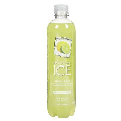 Sparkling Water, Sparkling Ice® Lemon Lime (Single 17 oz Bottle)