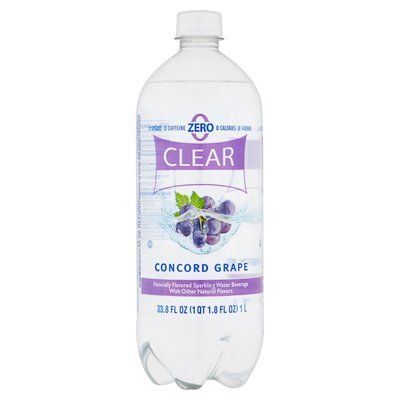 Sparkling Water, Clear American® Concord Grape (33.8 oz Bottle)