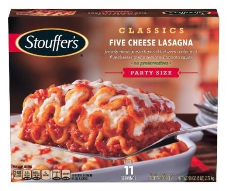 Frozen Lasagna, Stouffer's® Five Cheese Lasagna (97 oz Box)