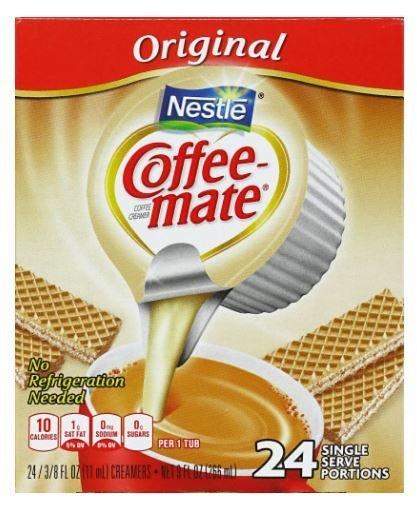 Coffee Creamer, Coffee-Mate® Original, Single Serve Creamer (24 count Box)