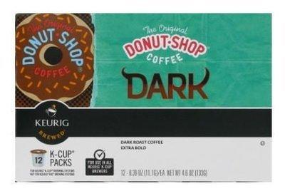 K Cup Coffee, Donut-Shop® Dark™ K Cup Coffee (Box of 12 Single K Cups)
