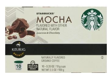 K Cup Coffee, Starbuck's® Mocha Coffee™ K Cup Coffee (Box of 10 Single K Cups)