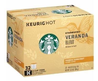 K Cup Coffee, Starbuck's® Veranda Blend® K Cup Coffee (Box of 32 Single K Cups)