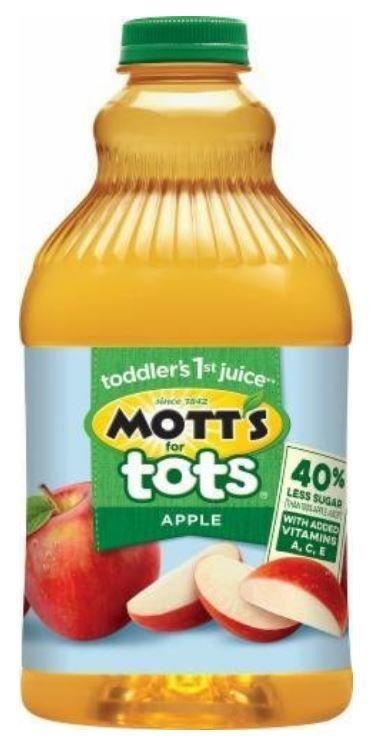 Apple Juice, Mott's for Tots® Apple Juice (64 oz Bottle)