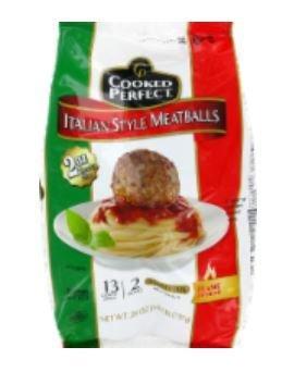 Frozen Meatballs, Cooked Perfect® Italian Style Meatballs (80 oz Bag)