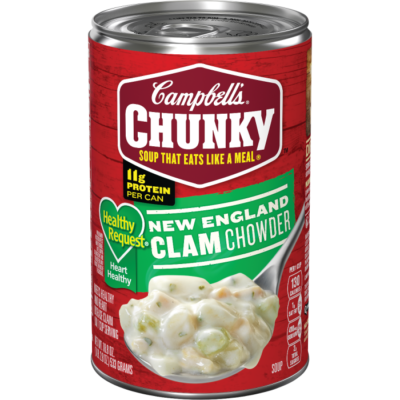 Canned Soup, Campbell's® Chunky® Healthy Request New England Clam Chowder (18.8 oz Can)