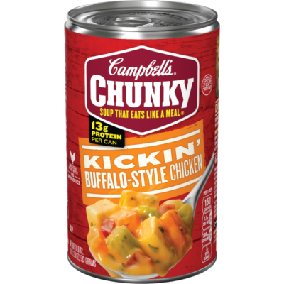 Canned Soup, Campbell's® Chunky® Kickin' Buffalo-Style Chicken Soup (18.8 oz Can)