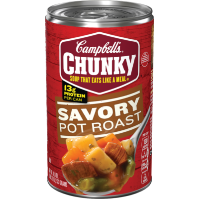Canned Soup, Campbell's® Chunky® Savory Pot Roast Soup (18.8 oz Can)