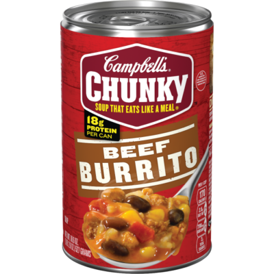Canned Soup, Campbell's® Chunky® Beef Burrito Soup (18.8 oz Can)
