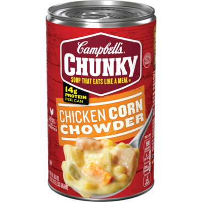 Canned Soup, Campbell's® Chunky® Chicken Corn Chowder (18.8 oz Can)