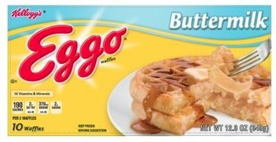 Frozen Waffles, Kellogg's® Eggo® Buttermilk Waffles (10 Count, 12.3 oz Box)