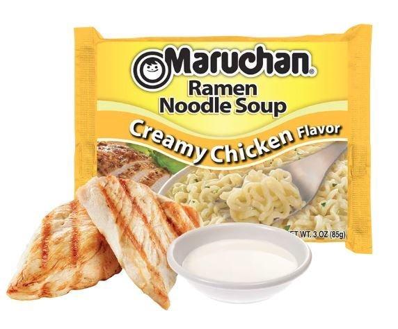 Ramen, Maruchan® Ramen with Creamy Chicken Flavor Noodle Soup (3 oz Bag)