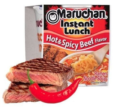 Ramen, Maruchan® Instant Lunch® Hot & Spicy Beef Ramen (2.25 oz Cup)