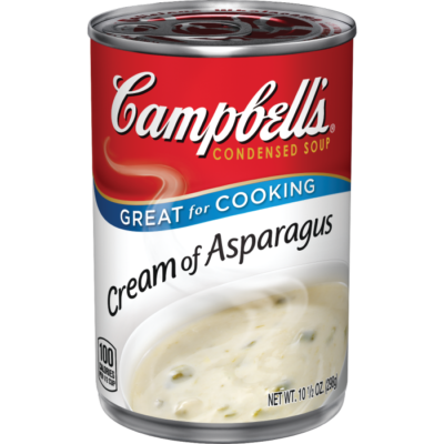 Canned Soup, Campbell's® Condensed® Cream of Asparagus Soup (10.5 oz Can)