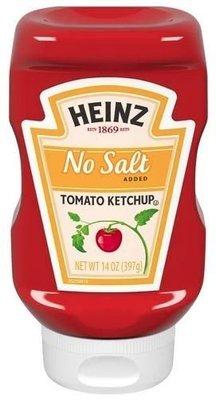Ketchup, Heinz® No Salt Ketchup (14 oz Bottle)