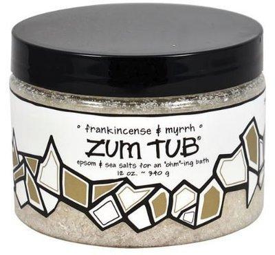 Bath Salt, Zum Tub® Frankincense-Myrrh Bath Salt (12 oz Canister)