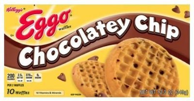 Frozen Waffles, Kellogg's® Eggo® Chocolatey Chip Waffles (10 Count, 12.3 oz Box)