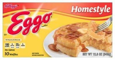 Frozen Waffles, Kellogg's® Eggo® Homestyle® Waffles (10 Count, 12.3 oz Box)