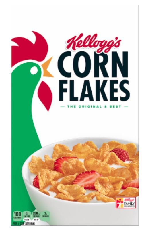 Cereal, Kellogg's® Corn Flakes™ Cereal (18.0 oz Box)
