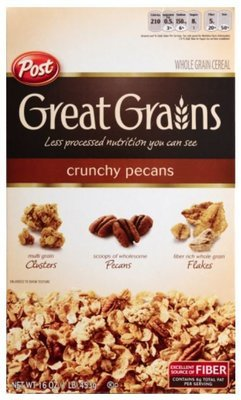 Cereal, Post® Great Grains™ Crunchy Pecans Cereal (16 oz Box)
