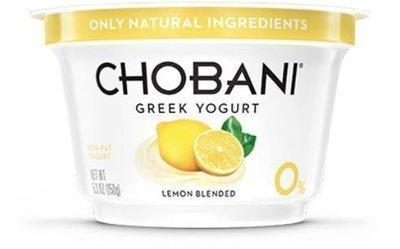 Yogurt, Chobani® Greek Lemon 0% Yogurt (5.3 oz Cup)