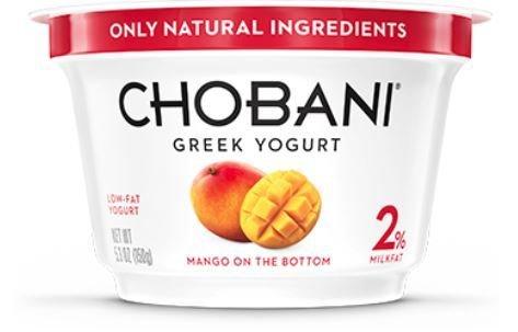 Yogurt, Chobani® Greek Mango 2% Yogurt (5.3 oz Cup)