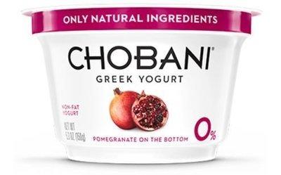 Yogurt, Chobani® Greek Pomegranate 0% Yogurt (5.3 oz Cup)