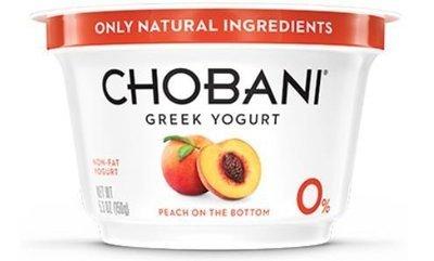 Yogurt, Chobani® Greek Peach 0% Yogurt (5.3 oz Cup)