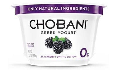 Yogurt, Chobani® Greek Black Berry 0% Yogurt (5.3 oz Cup)