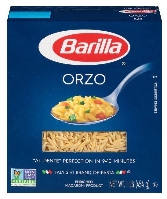 Pasta, Barilla® Orzo Pasta (16 oz Box)