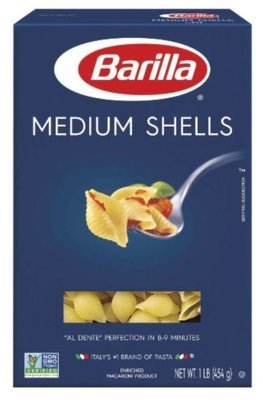 Pasta, Barilla® Medium Shells Pasta (16 oz Box)