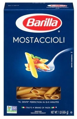 Pasta, Barilla® Mostaccioli Pasta (16 oz Box)