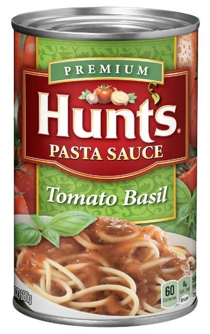 Canned Tomato, Hunt's® Tomato Basil Pasta Sauce (24 oz Can)