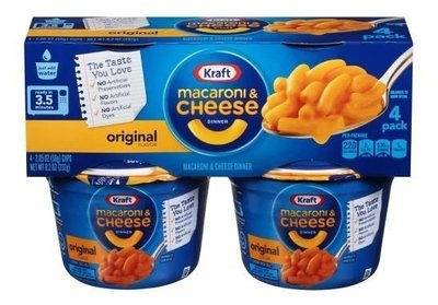 Mac N Cheese Cup, Kraft® Original Macaroni & Cheese (4 Count, 2.5 oz Cups)